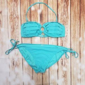 Leilani Turquoise 2 pc Bikini Swimsuit Swim Suit